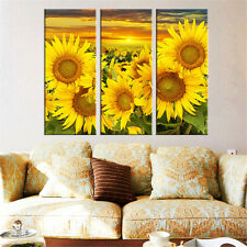 3PC HD Flower Canvas Oil Painting Wall Picture for Living Room Unframed Modular