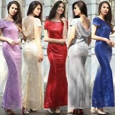 Paillette Sexy Lady Long Sequins Mermaid Evening Party Dress Prom Pageant Dress