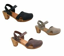 Sanita Matrix Square Flex Sandal Oil Leather Womens Shoes Sandals Clogs