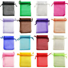 100pcs 5x7cm Luxury Jewellery Pouches Packing Organza Gift Bags Wedding Party Fa