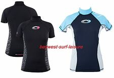 *BNWT* Ladies OSPREY UV50+ Rash Vest Base Layer Short Sleeve Surf Swim Ski Snow