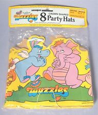 1985 Wuzzles Party Hats 8 Crown Shaped Original Unopened Package Hasbro Disney
