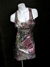 Sequin Floral Sexy Dress Size S L Women Party Cocktail Bodycon Sequined Nwt