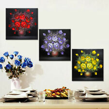 3PC Modular Canvas Painting Flower Poster Wall Picture for Living Room No Frame
