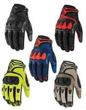 Icon Mens Overlord Resistance Mesh Leather Motorcycle Gloves All Sizes