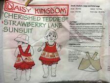 Daisy Kingdom Cherished Teddies Strawberry Lane Sunsuit panel kit