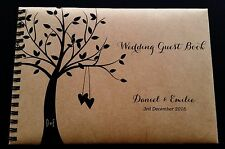 A5 Personalised Guest Book Rustic Country Theme in Window Box + Optional Sign