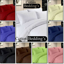 1000TC UK Size 100%Egyptian Cotton Fitted/Flat/Bed Skirt/Duvet Solid Hotel Linen