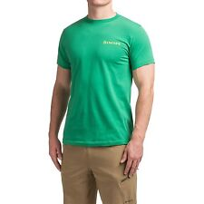 Simms Fly Fishing Hatch S/S T Shirt - Green Color - Choose Size - NEW!
