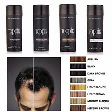 Toppik Hair Building Fibers Black Medium Light Brown Gray Hair Loss Blonde BIG