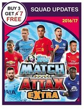 MATCH ATTAX EXTRA 2017 2016/17 SELECT SQUAD UPDATE CARDS