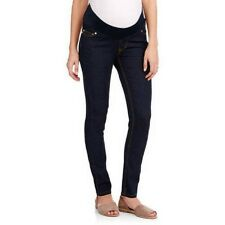 Oh! Mamma Women's Demi-Panel Super Soft Skinny Maternity Blue Jeans 12-14 Large