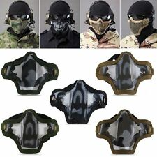 Outdoor Sport Metal Mesh Half Face Mask COD Cosplay Airsoft Military Hot!