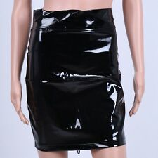 Sexy Women Leather High Waist Short Bodycon Lingerie Mini Pencil Clubwear Dress