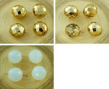 4pcs Extra Large Round Round Czech Glass Faceted Fire Polished Beads 16mm