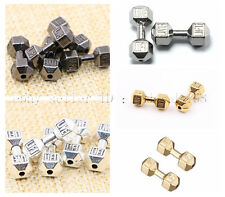Solid Metal Dumbbell Bracelet Connector Charm Findings Beads Jewelry Design