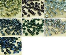 40pcs Metallic Czech Glass Small Bell Flower Bead Caps 7mm x 5mm