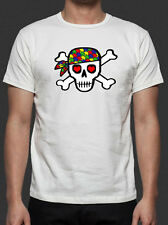 Autism Awareness Support Donate Skull Design New White T-Shirt S-6XL