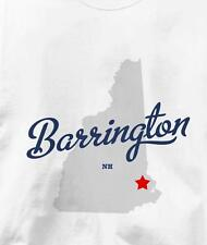 Barrington, New Hampshire NH MAP Souvenir T Shirt All Sizes & Colors