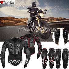 Motorcycle Body Spine Chest Protective Jackets Knee Pad Armor Motorcross Racing