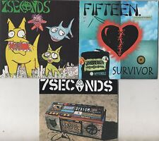 7 SECONDS Fifteen Compact Disc 3-CD LOT Survivor Out Of The Shizzy Music Message