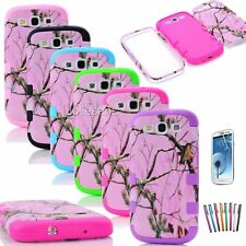 CAMO PINK TREE ShockProof Real Hybrid Impact for Samsung Galaxy S3 S4 Cover Case