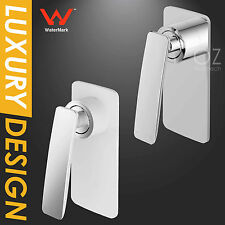 WaterMark Bathroom Brass Square Shower Mixer Tap Wall Valve Faucet Chrome/White