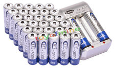 32x AA 3000mAh 1.2V Ni-MH rechargeable battery BTY for MP3 RC Toy Camera+Charger