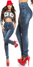Sexy Clubbing Women Trouser High Waist Skinny Jeans Ladies size 8 10 12 14 Pant