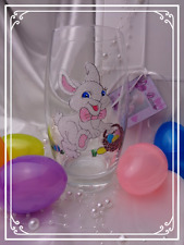 Personalised Easter Bunny White Rabbit Hi Ball Tumbler Glass Hand Painted