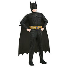 Deluxe BATMAN Dark Knight Super hero DC Comics Boys Fancy Dress Costume 881290
