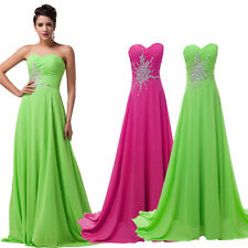 Sexy Long BEADED Bridesmaid Dress Prom Evening Ball Party Formal Cocktail Gown