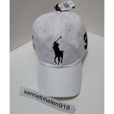 NWT POLO RALPH LAUREN BIG PONY BASEBALL CAP HAT WHITE ONE SIZE ADJUSTABLE