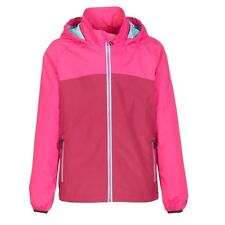 Killtec Girls Rain Jacket Pink Waterproof Hiking Siema Jacket Fuchsia
