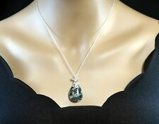 Sterling Silver Natural India Agate Necklace, Botswana Agate, Volcano Agate, Tea