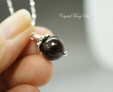 Garnet Pendant - Tiny Garnet Necklace - Tiny Silver Necklace - Garnet Jewelry -