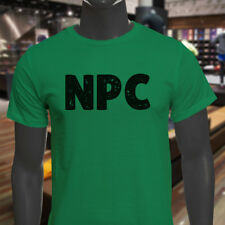 NPC GAMER BLACK VIDEO GAME HUMOR FUNNY GEEK NERD Mens Green T-Shirt
