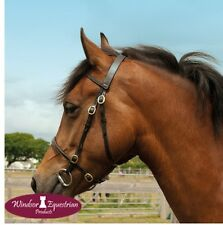 Windsor In-Hand Showing Bridle *QUALITY* *BLACK/HAVANA* *Shetland/Pony/Cob/Full*