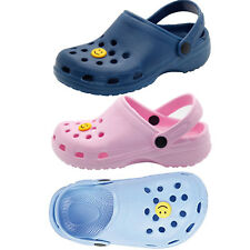 Kids Smile CLOGS Face Beach Boys Girls Garden Sandal Water Proof Mules Shoes
