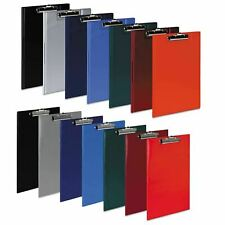 A4 Clipboard Solid PVC or Fold Over Clip Board Document Pen Holder Foolscap