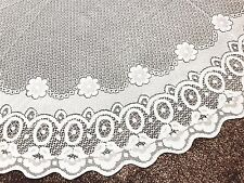 New Lace Tablecloth Floral White Cream Table Cover Oval Rectangle Round Oblong