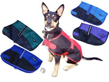 NEW Dog Coat Waterproof rug Two Tone well fitted fur lined Showcraft 40cm-80cm