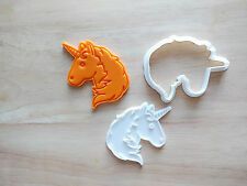Unicorn Emoji Cookie Cutter and Stamp Set / Party Favor Kids Birthday