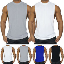 Mens Summer Gym Training Muscle Fitted Vest Tee Sleeveless T-Shirts Tank Tops GN