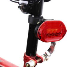 Waterproof 5LED Bike Bicycle Safe Front Head Light Lamp Back Rear Flashlight ~SG