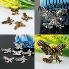 Antiqued Tibetan Silver/Bronze Eagle Hawk Bird Charm Pendant Beads Loose Spacers