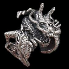 HUGE HEAVY JAPANESE DRAGON CLAW 925 STERLING SOLID SILVER MENS WOMENS RING