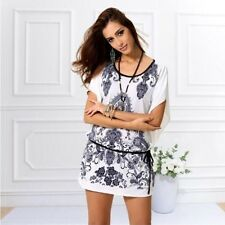 O-Neck summer casual women clothing 3D print plus size sexy& solid tank dresses