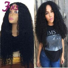 Unprocessed Brazilian Human Hair Lace Front Wig Guleless Curly Full Lace Wig