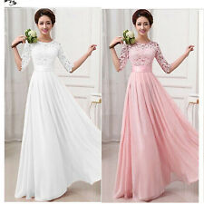 Fashion Women Chiffon Lace Evening Formal Party Ball Gown Prom Bridesmaid Dress